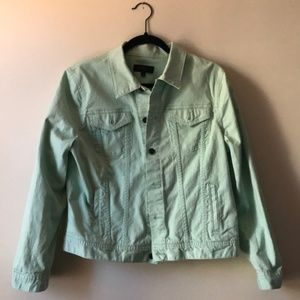 Talbots Pastel Green Denim Jacket, LP